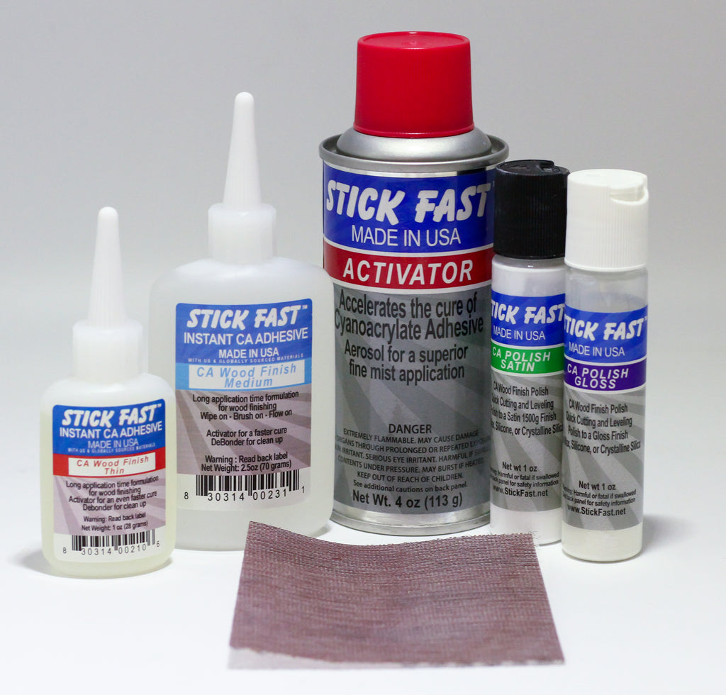 Stick Fast CA Wood Finish Starter Kit