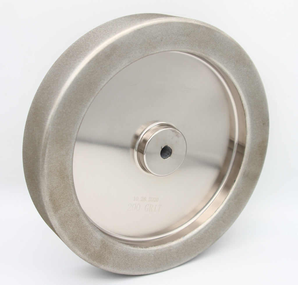 "Tornado Waterless 10"" CBN Wheel (Tormek style) with Radius Edge, 12mm arbor"