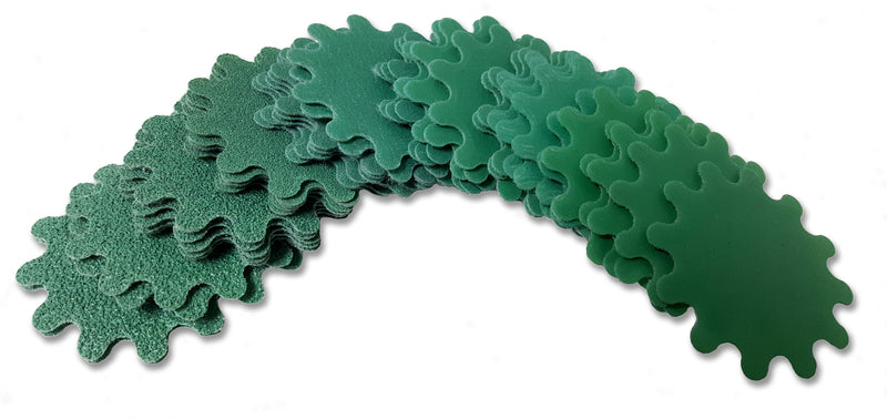 Green Wave Sanding Disc with mandrel