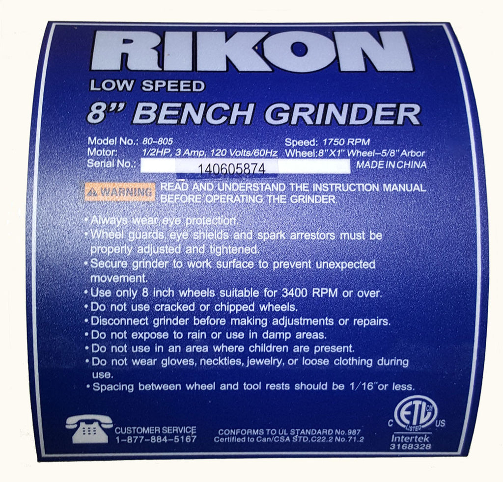 Rikon Bench Grinder - Woodturners Wonders