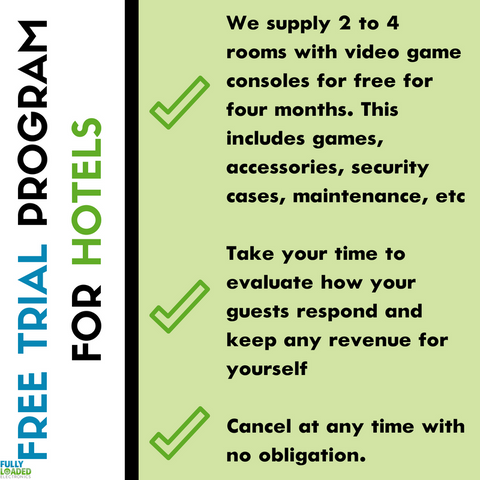 Fully Loaded Electronics has a Free Trial Program for Hotels