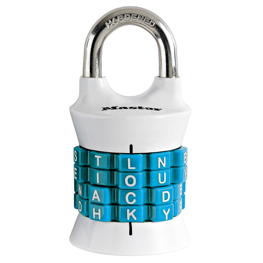 Combination lock for security tethers