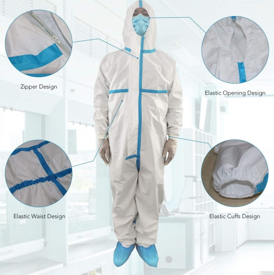 SMS Taped Isolation Suits, Size XL