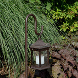 Starlite Portable LED Lantern with Clear Glass & Shepherds Hook Stand