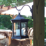 Starlite Portable LED Lantern Sconce with Clear Glass