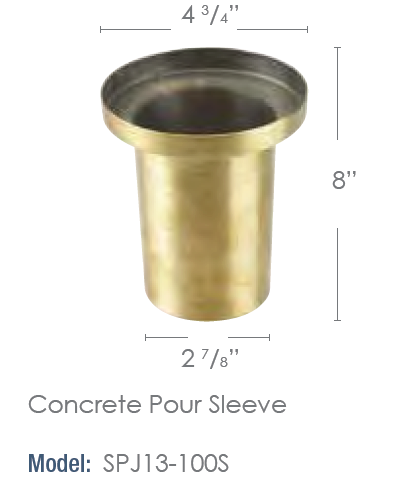SPJ Lighting Brass Concrete Pour Sleeve - SPJ-13-100S