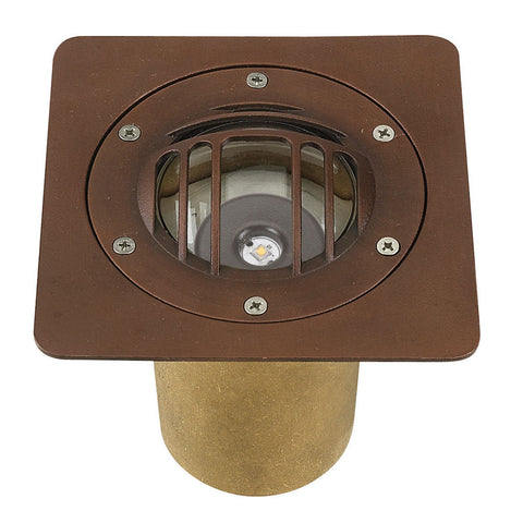 Brass Mini LED Well Light - SPJ-CBWL-16-ST-CG-GT