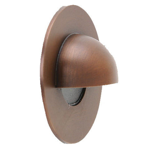 SPJ-GDG-3EB Round Brass Step & Wall Light with Hood