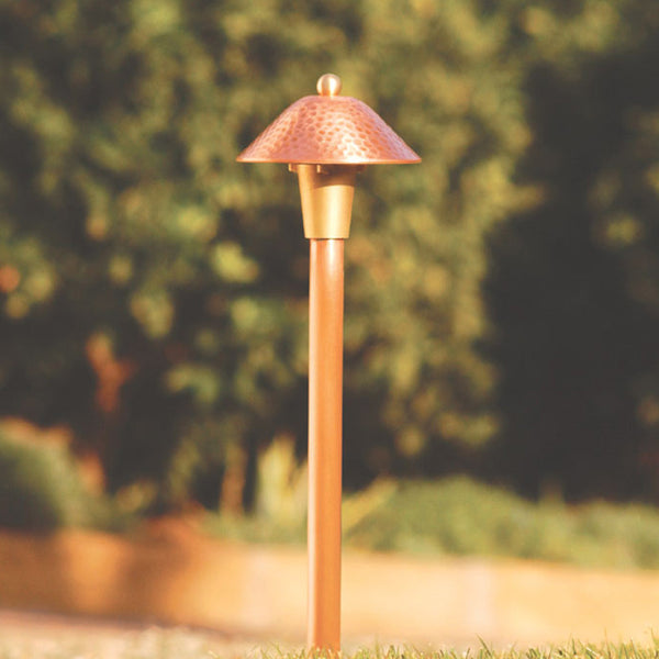 Spj Lighting Path Light Compact Textured Brass Or Copper