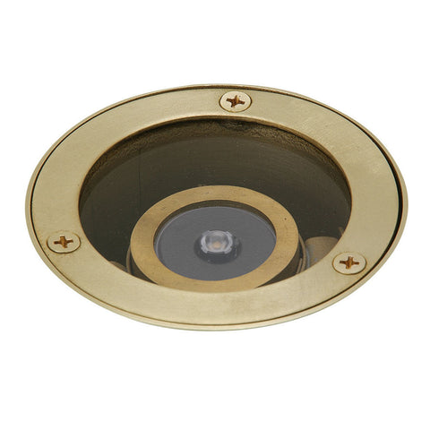 Brass Mini LED Well Light - SPJ-MW-1000-CP