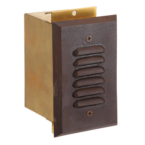SPJ17-VLP LED Cast Brass Recessed Step Light in Rust