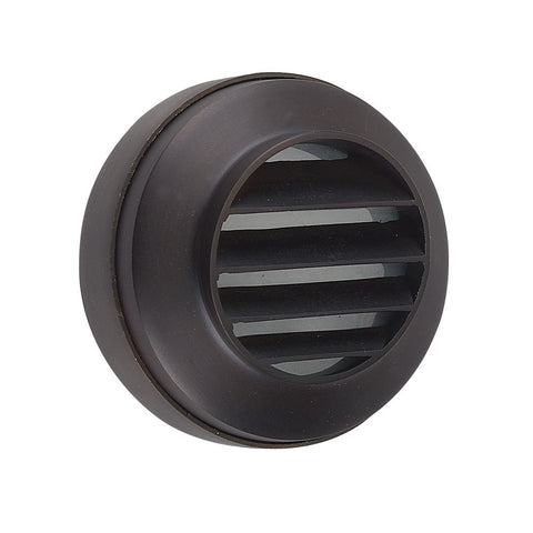 SPJ18-14-LED Cast Brass 12V Round Surface Mount Step Light - black finish