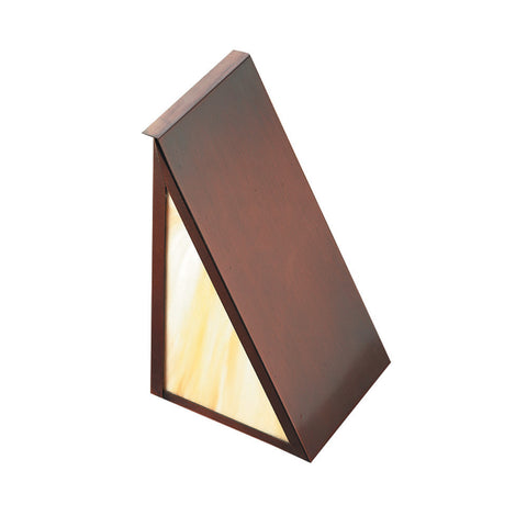 SPJ48-06-LED Cast Brass Surface Mount Step Light with Honey Swirl Glass
