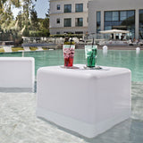 Smart and Green Cordless Portable LED Big Cube Lamp - white pool table
