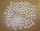 "SALE Wood Circles 1.5""x1/8"" Craft Disc Flat Hard wood Shapes USA MADE! - SALE"