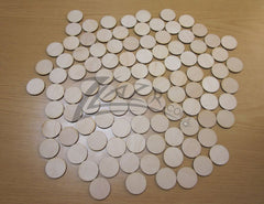 "Wood Circles 1""x1/8"" Craft Disc Flat Hard wood Shapes USA MADE!"
