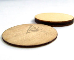 "Wood THIN Circles 1.375""x1/32"" Disc Flat Hard wood Shapes USA MADE!"