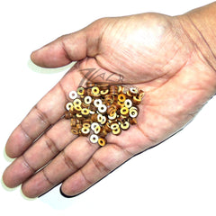 "Wood Small Circle Beads 1/4""x1/8"" with CENTER HOLE Craft Disc USA MADE!"