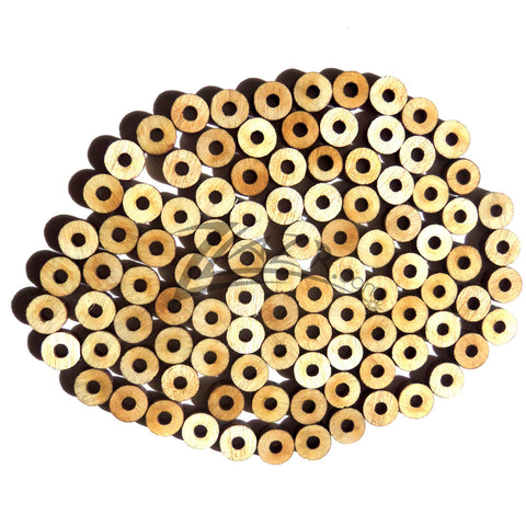 Wood Small Circle Beads 14x18 With Center Hole Craft Disc Usa Made