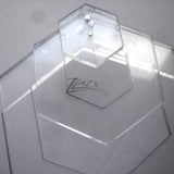 "Template Nested 4"" x 1/8"" HEXAGON Acrylic Plastic Stencil Quilting"