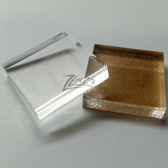 "SQUARES 1/2"" x 1/4"" Thick Clear MINERAL GEM BASE"