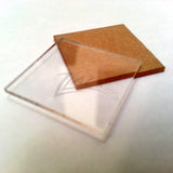 "SQUARES 1/32"" x .75"" (3/4"") Clear Acrylic Plastic Plexiglass Geometric Craft"