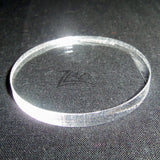 "CIRCLE LARGE 2"" x 3/16"" THICK Clear Acrylic Plastic Plexiglass Geometric Craft"