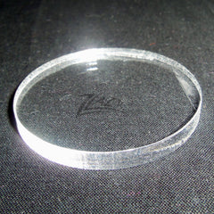 "CIRCLE LARGE 2.25""x1/4"" THICK Clear Acrylic Plastic Plexiglas"