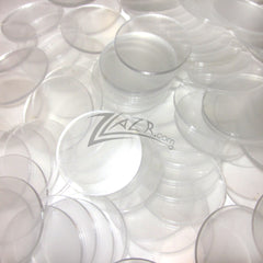 "Circles Clear 1"" Acrylic 1/8"" Thick Disc"