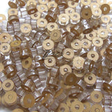 "Small Acrylic Circle Beads 1/4""x1/8"" with CENTER HOLE Craft Disc USA MADE!"
