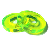 "Washer COLOR 3/4""x1/8"" with 5/16"" HOLE Acrylic Circle Disc Spacer - NEON GREEN"