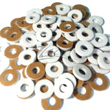 "Washer THIN CIRCLES 3/4""x1/16"" WHITE 5/16"" HOLE Color Acrylic Disc"