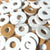 "Washer COLOR 3/4""x1/8"" with 5/16"" HOLE Acrylic Circle Disc - WHITE"
