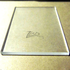 "1/8"" Glowforge 12""x20"" CLEAR Acrylic Sheet - Extruded or Cast (and Dremel)"