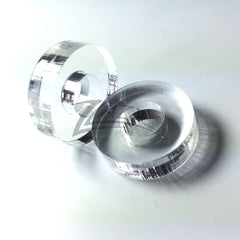 "Washer 1/4"" THICK CIRCLES 3/4""x1/4"" Clear Acrylic and 5/16"" HOLE"