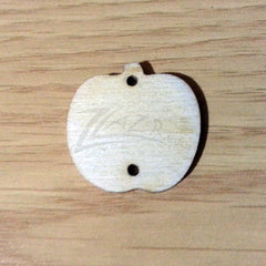 "Wood Holiday APPLE 1.25"" 2-Holes"