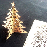 Business Cards Christmas Tree Wooden Cards - Personalized