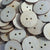 "Wood Circle Buttons 1.25"" x 1/8"" 2-HOLE Sewing Craft Disc Flat Hard wood Shapes USA MADE!"