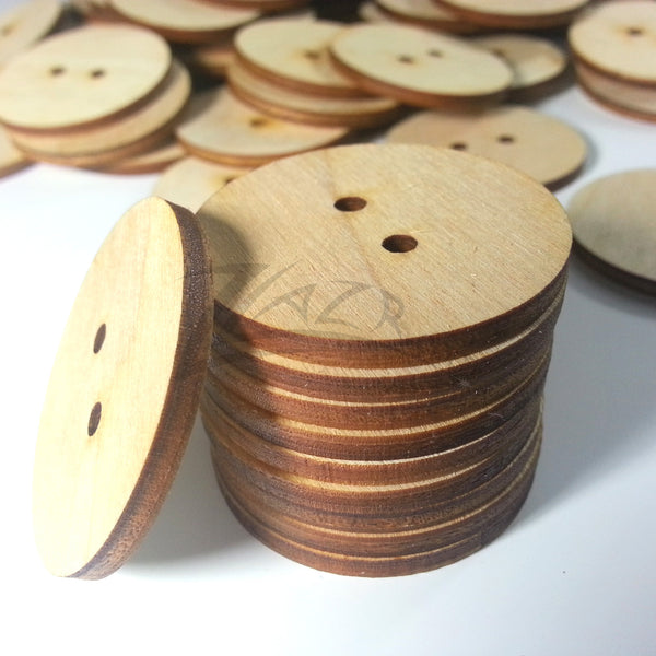 1 25 Quot X1 8 Quot Wooden Circle 1 Keychain Hole Disc Tag Family