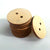 "Wood Circle Buttons 1.5"" x 1/8"" 2-HOLE Sewing Craft Disc Flat Hard wood Shapes USA MADE!"