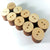 "Wood Circle Buttons 1"" x 1/8"" 2-HOLE Sewing Craft Disc Flat Hard wood Shapes USA MADE!"