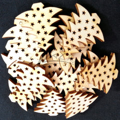 "Wood Holiday Christmas Tree 1.5"" 2-Holes"