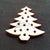 "Wood Holiday Christmas Tree 1.25"" 2-Holes"