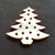 "Wood Holiday Christmas TREE 1"" 2-Holes"