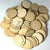 "Wood Circles 2""x1/8"" 1-Key Chain HOLE Craft Disc Flat Hard wood Shapes USA MADE!"