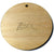 "Wood Circles 3""x1/8"" 1-Key Chain HOLE Craft Disc Flat Hard wood Shapes USA MADE!"