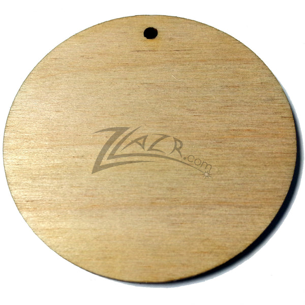1 5 Quot X1 8 Quot Wooden Circle 1 Keychain Hole Disc Tag Family
