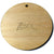 "Wood Circles 1""x1/8"" 1-Key Chain HOLE Craft Disc Flat Hard wood Shapes USA MADE!"