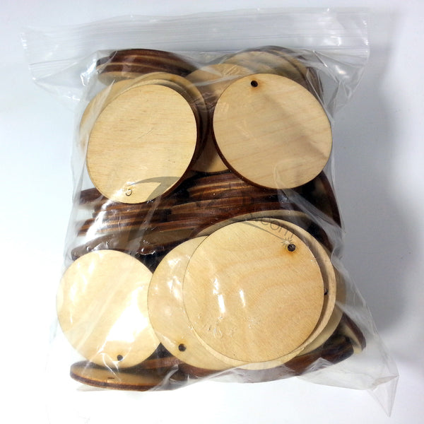 2 Quot X1 8 Quot Wooden Circle 1 Keychain Hole Disc Tag Family