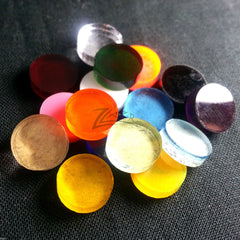 "(0.625"") 5/8"" x 1/8"" Color Circle pack Random Acrylic Disc Jewelry Earrings"